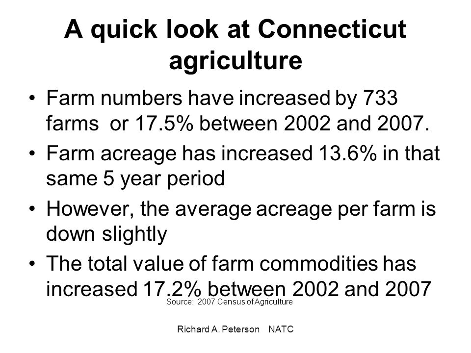 A quick look at Connecticut agriculture