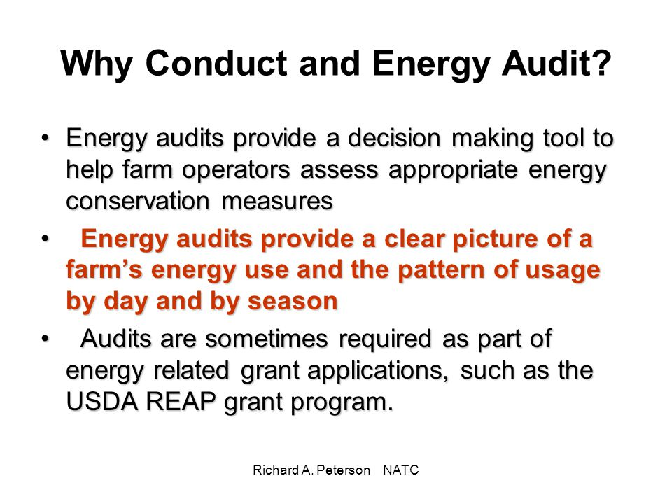 Why Conduct and Energy Audit