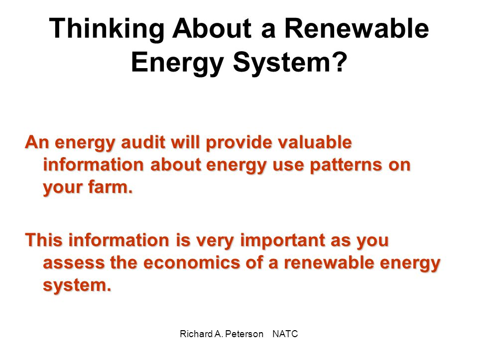 Thinking About a Renewable Energy System