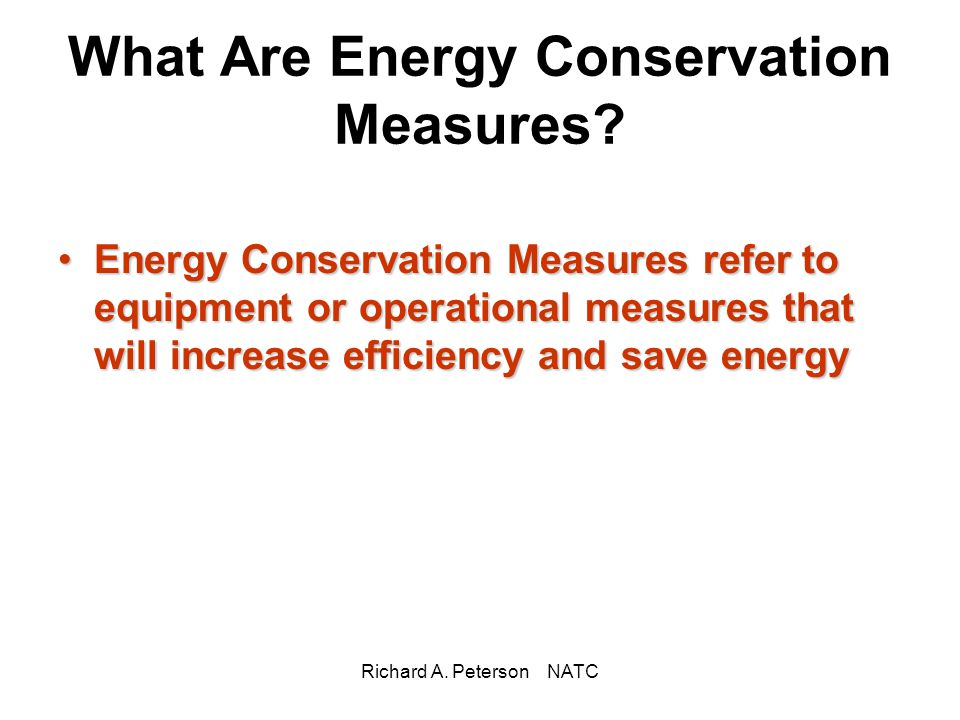What Are Energy Conservation Measures