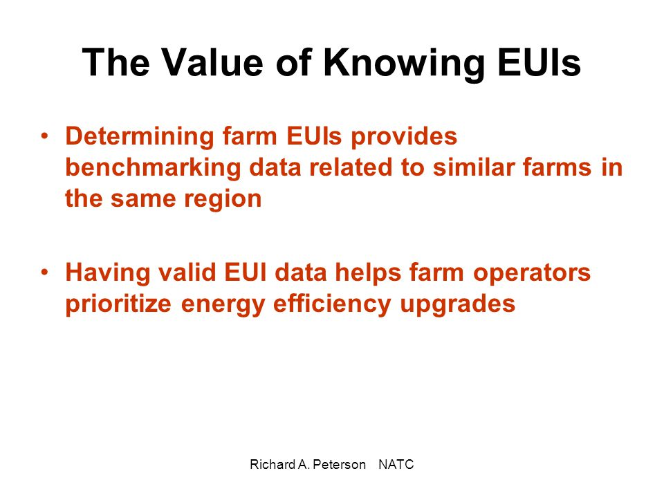 The Value of Knowing EUIs