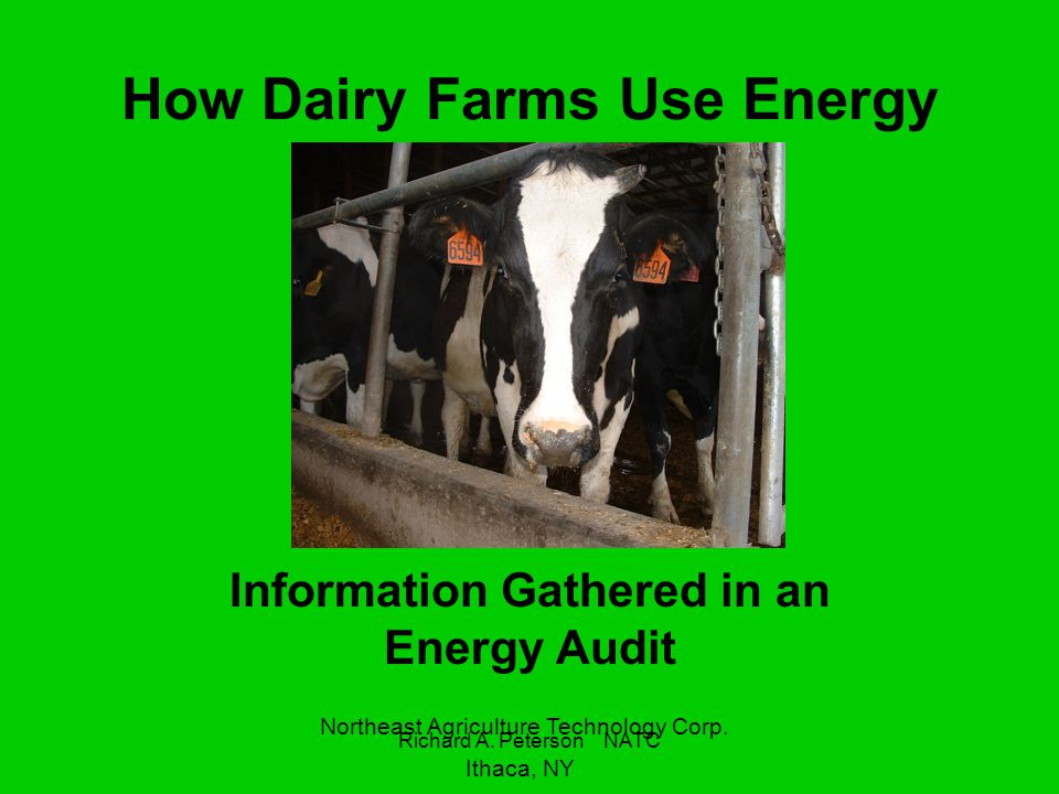 How Dairy Farms Use Energy