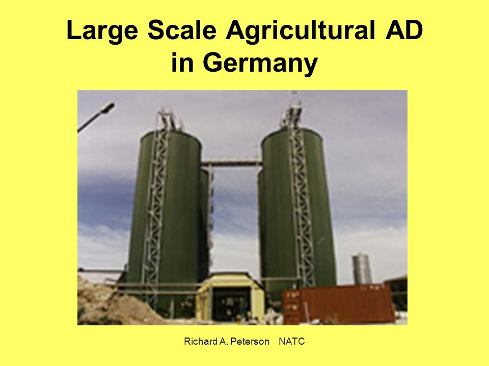 Large Scale Agricultural AD in Germany