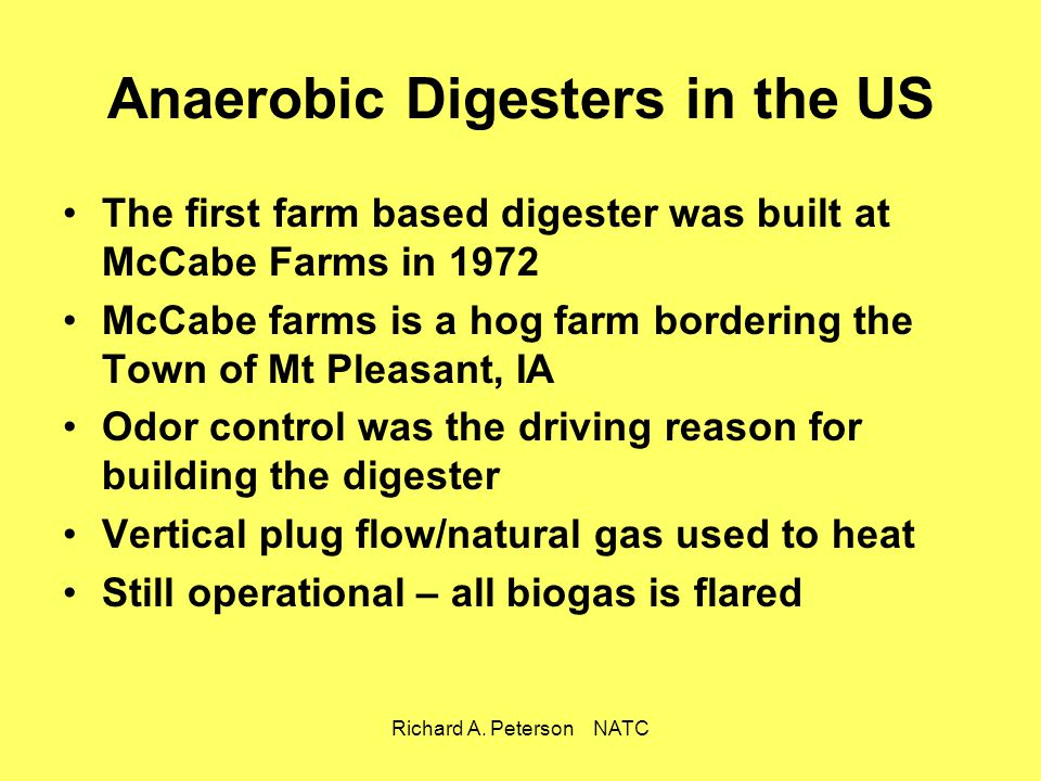 Anaerobic Digesters in the US