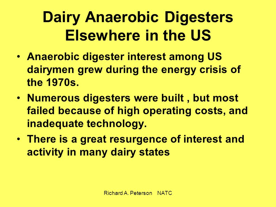 Dairy Anaerobic Digesters Elsewhere in the US