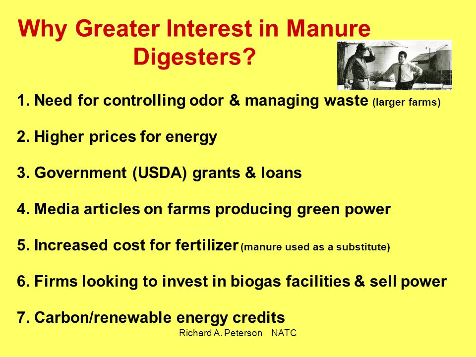 Why Greater Interest in Manure Digesters