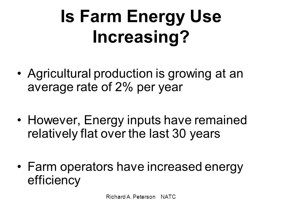 Is Farm Energy Use Increasing
