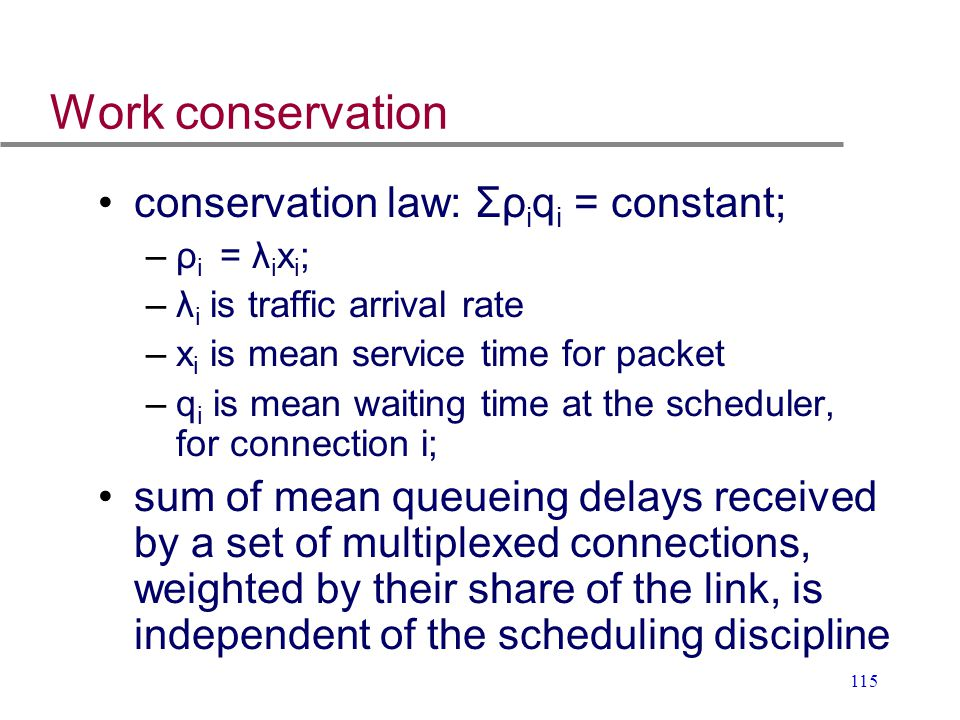 Work conservation conservation law: Σρiqi = constant;