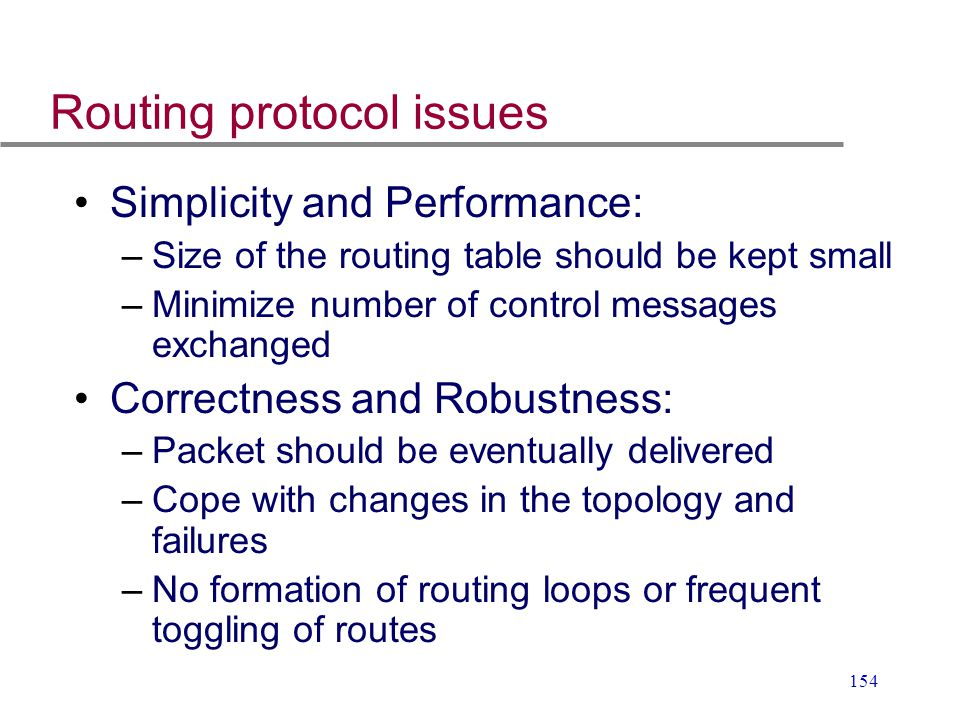 Routing protocol issues