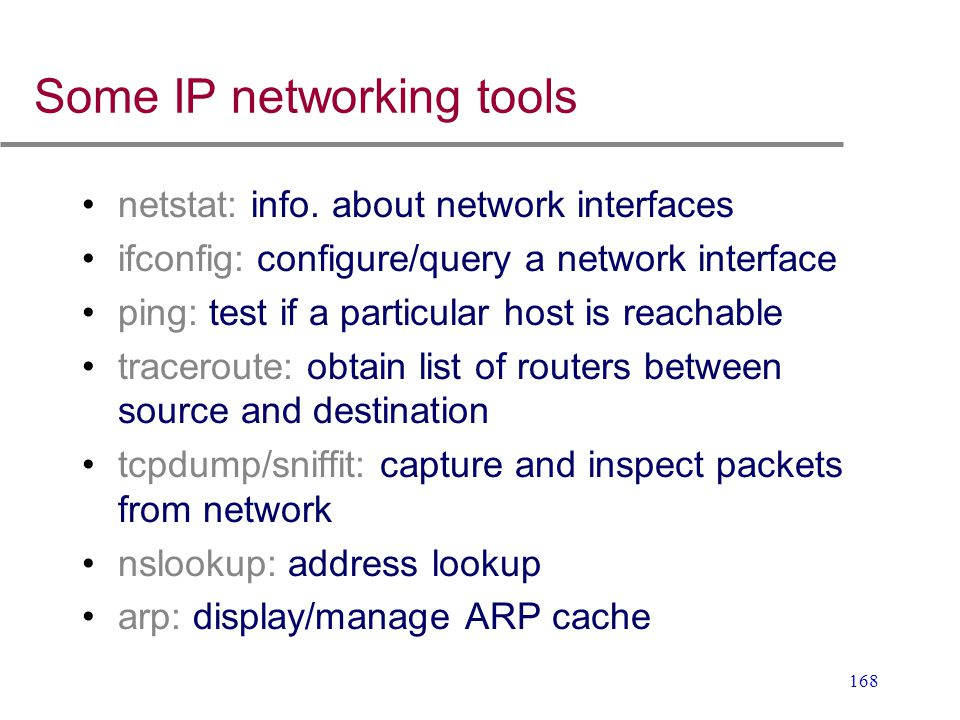 Some IP networking tools