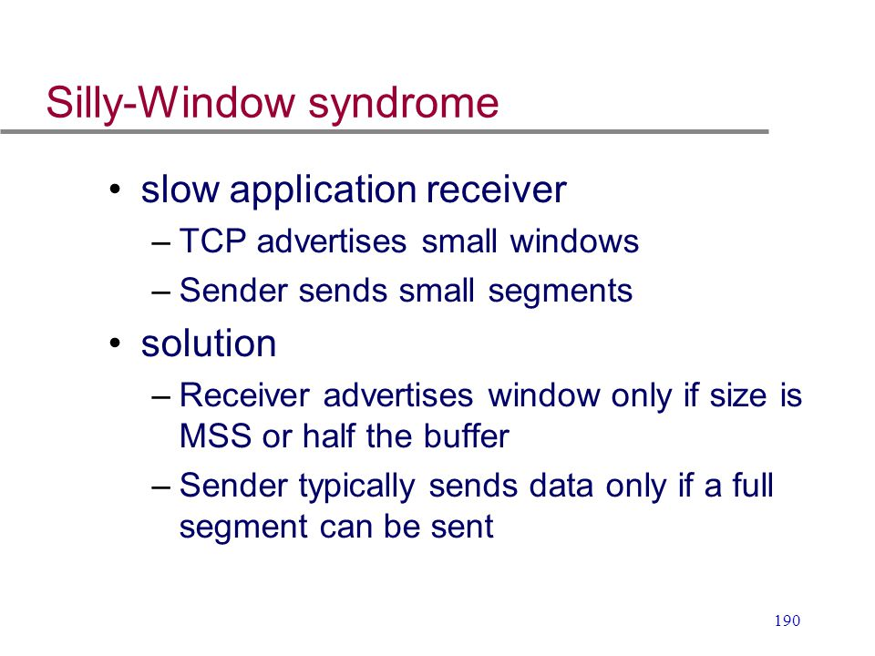 Silly-Window syndrome