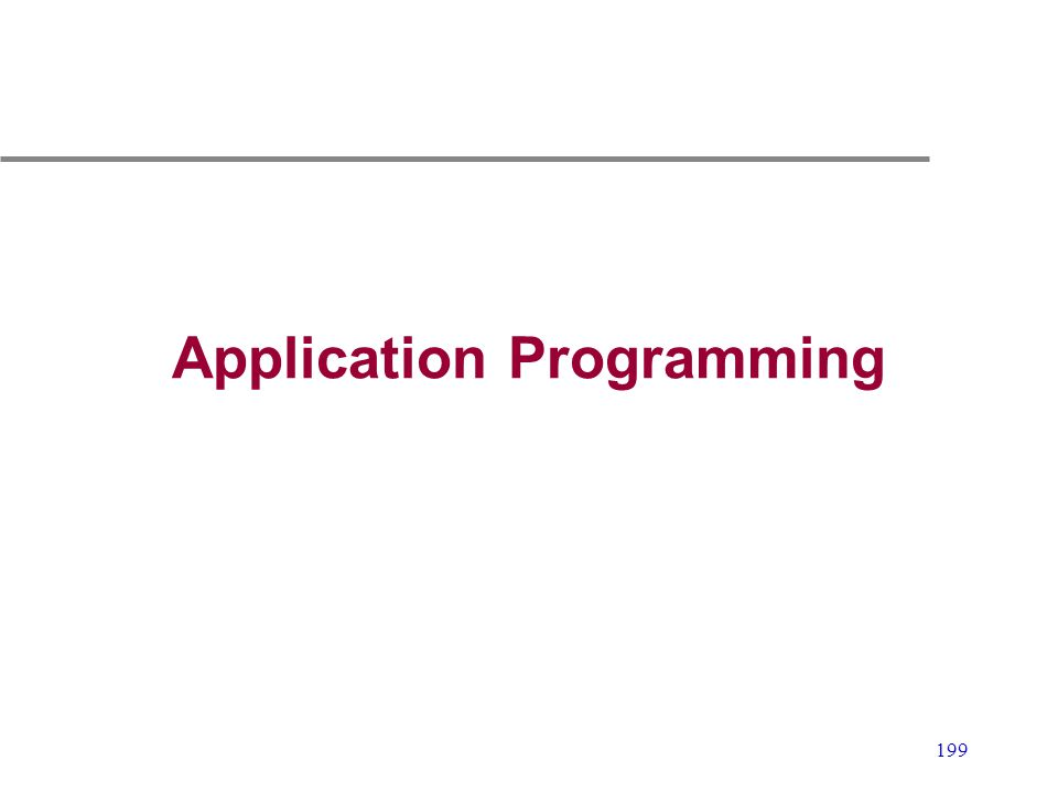 Application Programming