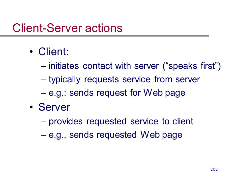 Client-Server actions