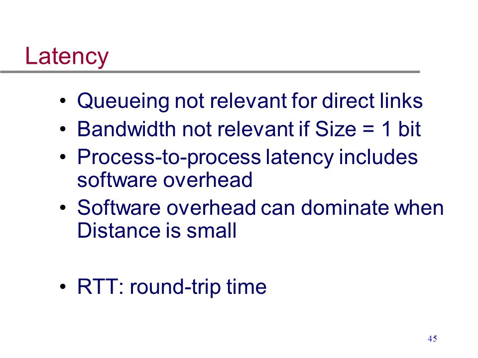 Latency Queueing not relevant for direct links