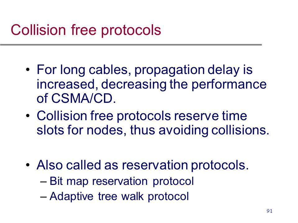Collision free protocols