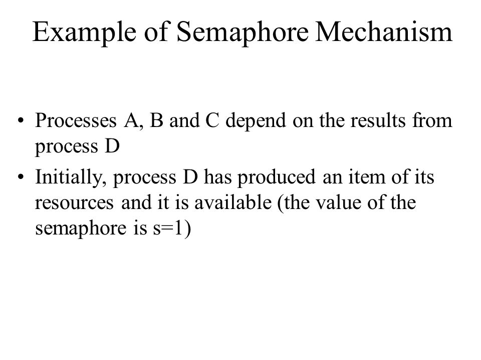 Example of Semaphore Mechanism
