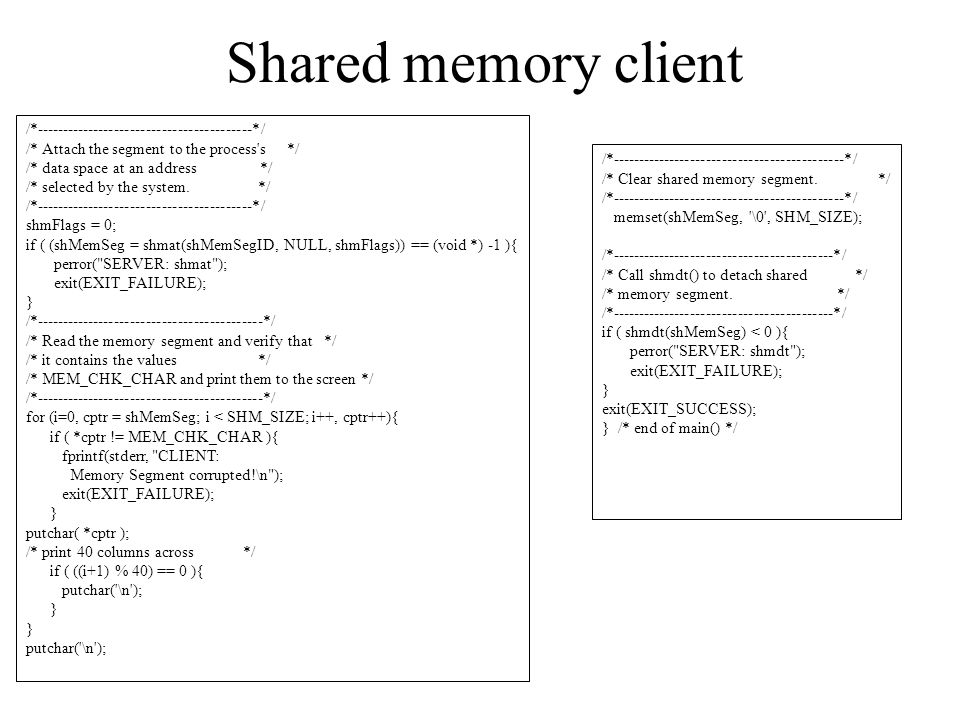 Shared memory client /*-----------------------------------------*/