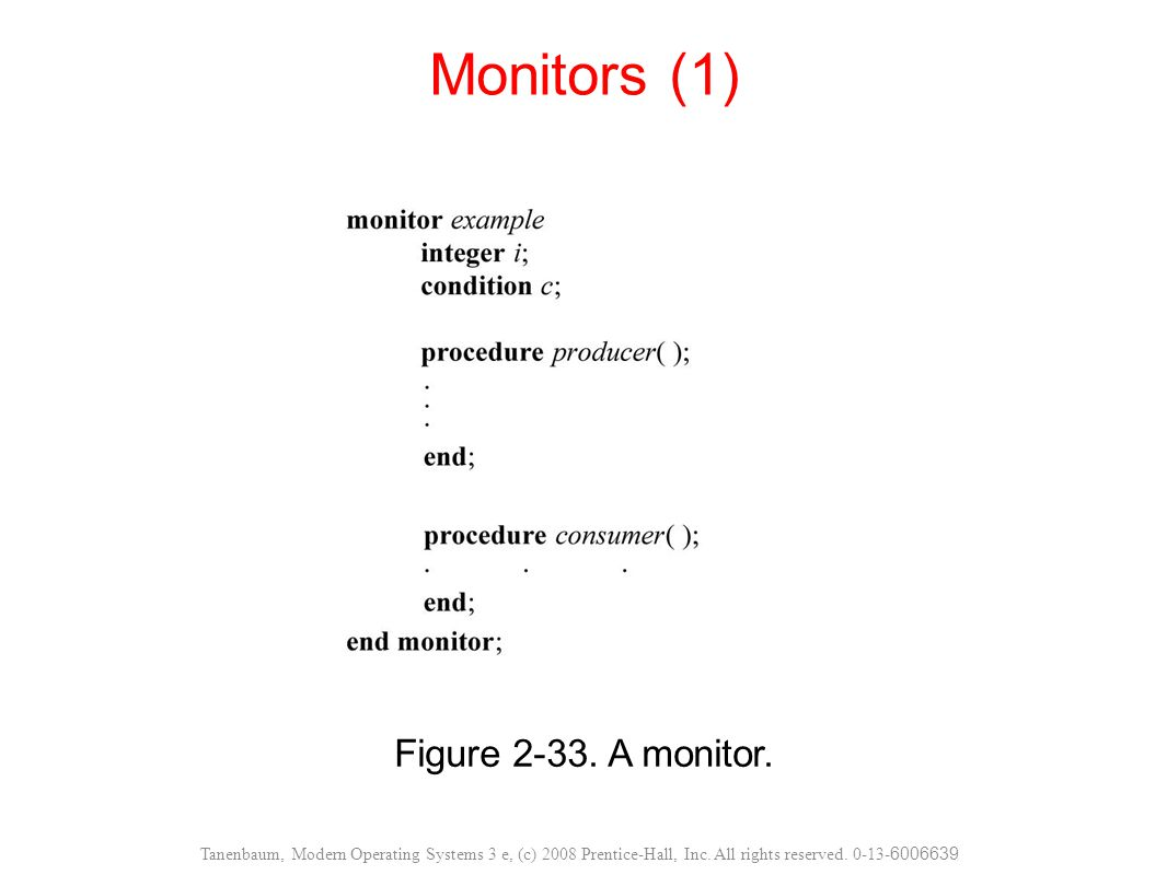 Monitors (1) Figure 2-33. A monitor.