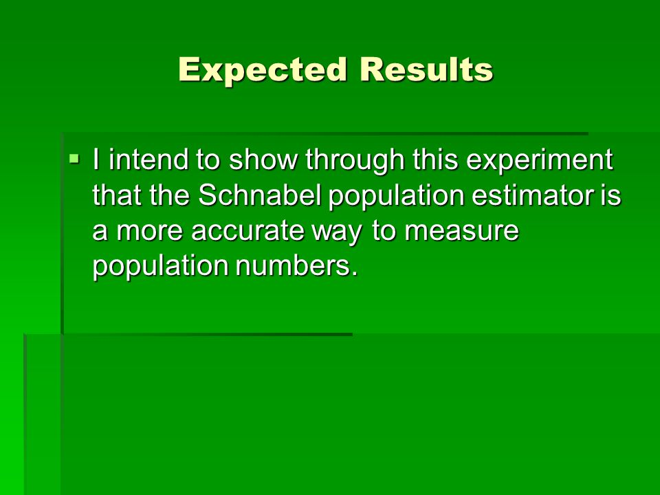 Expected Results