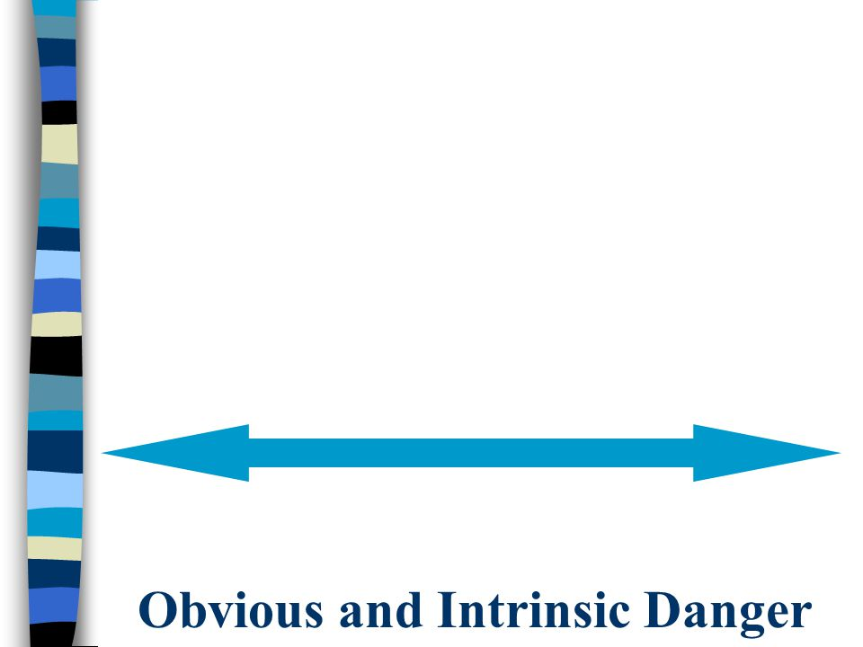 Obvious and Intrinsic Danger