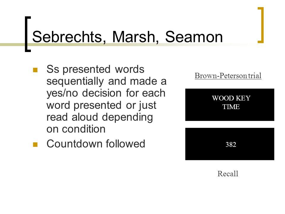 Sebrechts, Marsh, Seamon