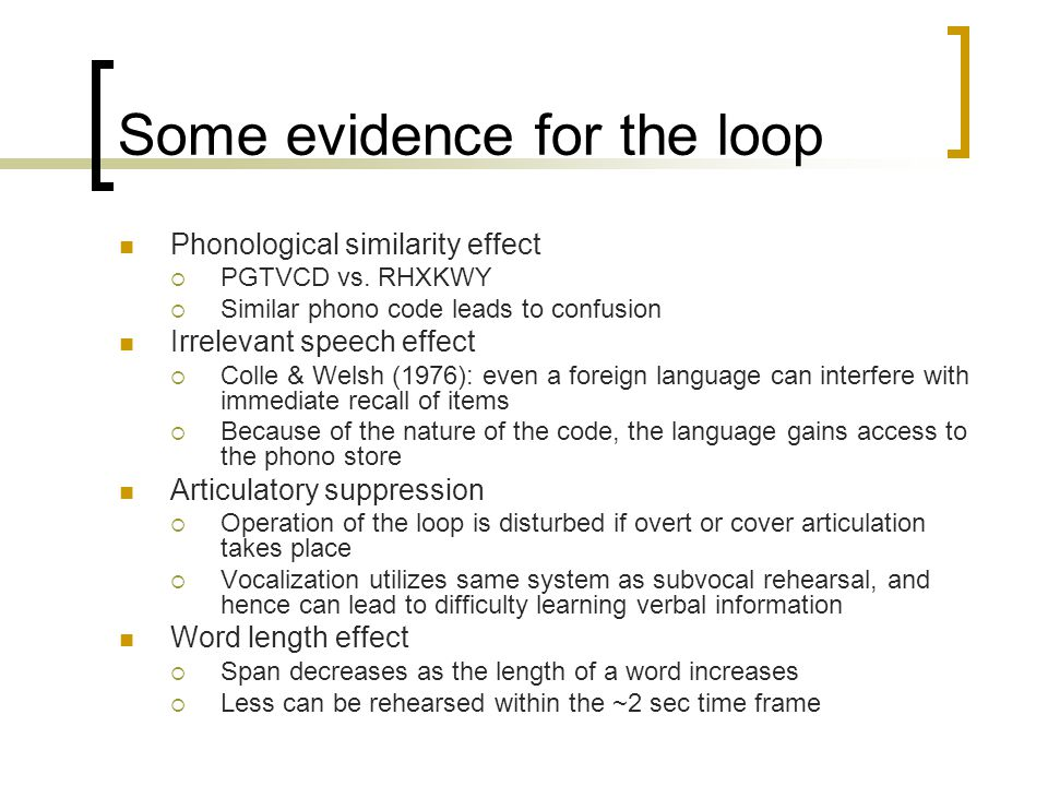 Some evidence for the loop