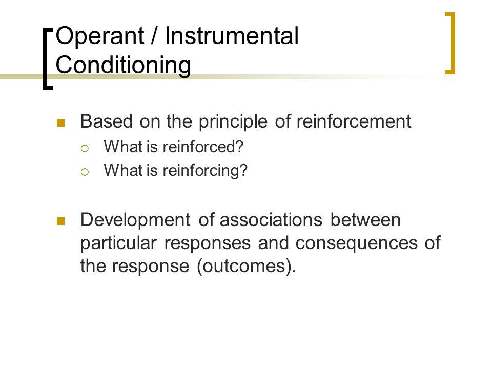 Operant / Instrumental Conditioning