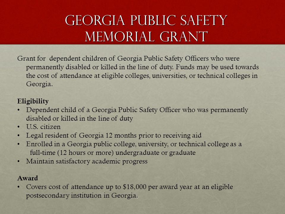 Georgia Public Safety Memorial Grant