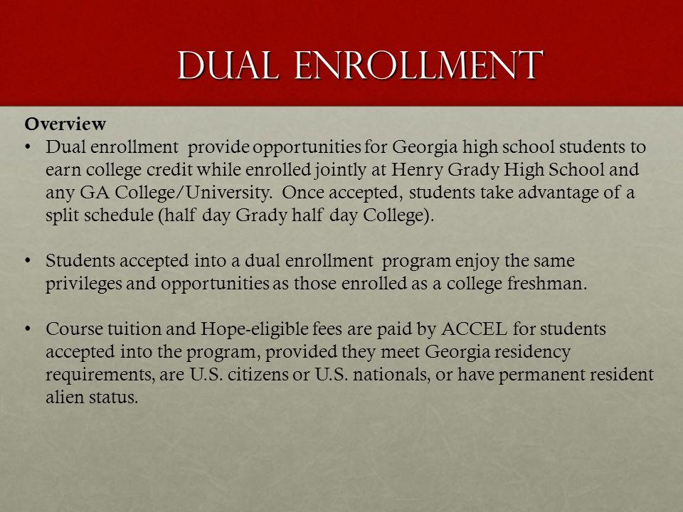 Dual Enrollment Overview