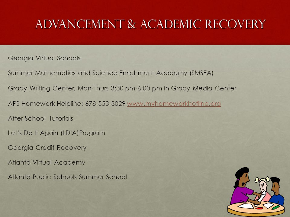 Advancement & Academic Recovery