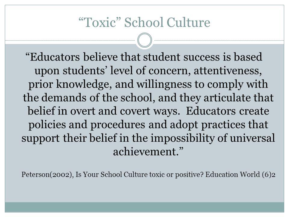 Toxic School Culture