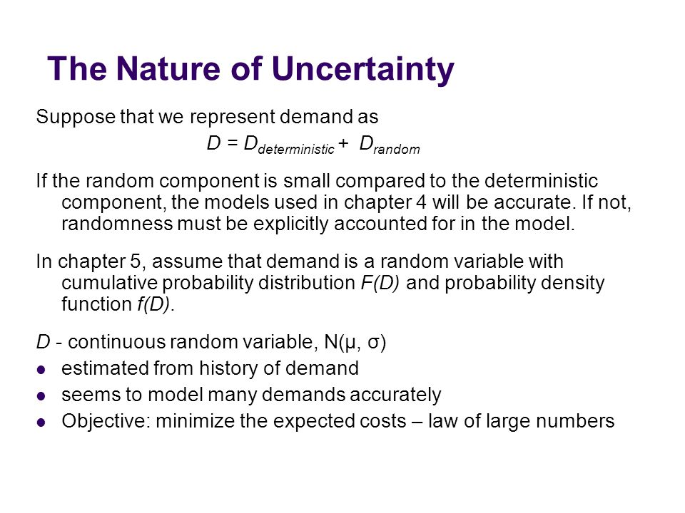 The Nature of Uncertainty