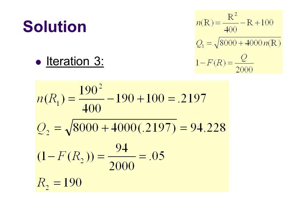 Solution Iteration 3: