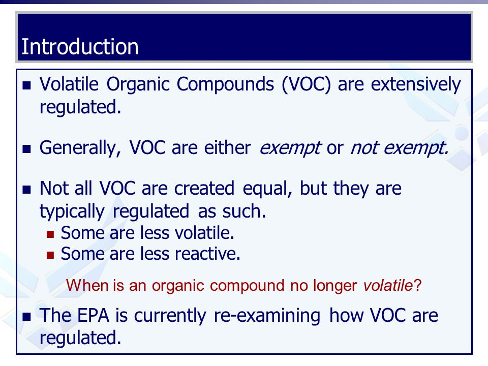 When is an organic compound no longer volatile