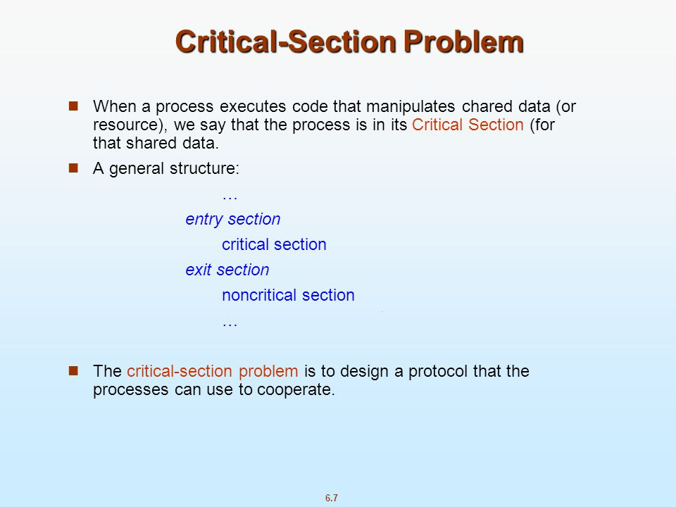 Critical-Section Problem