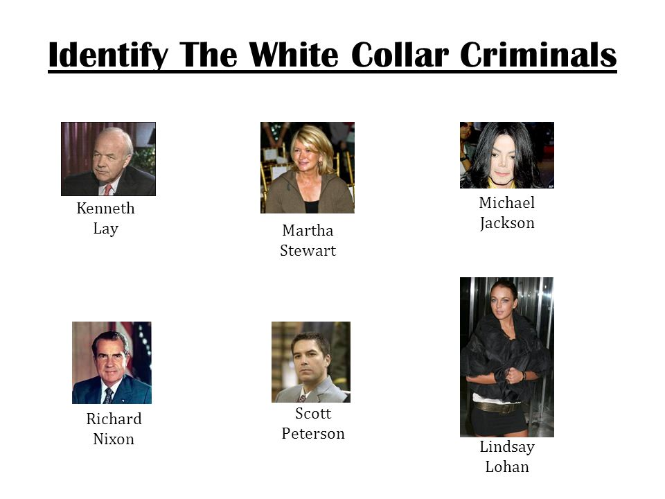 Identify The White Collar Criminals
