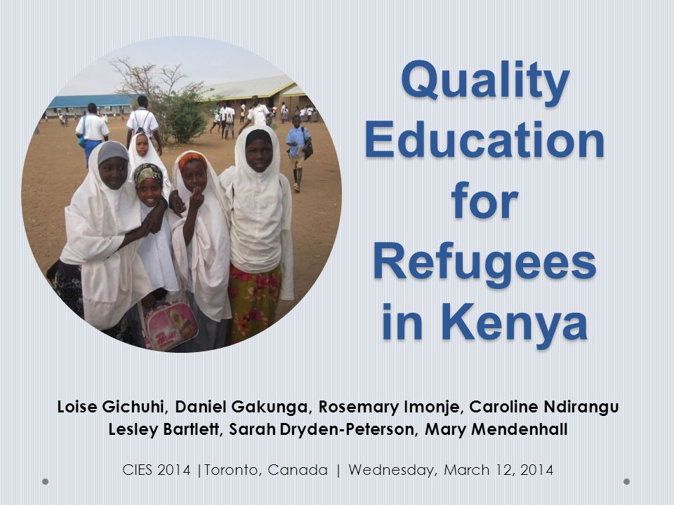 Quality Education for Refugees in Kenya