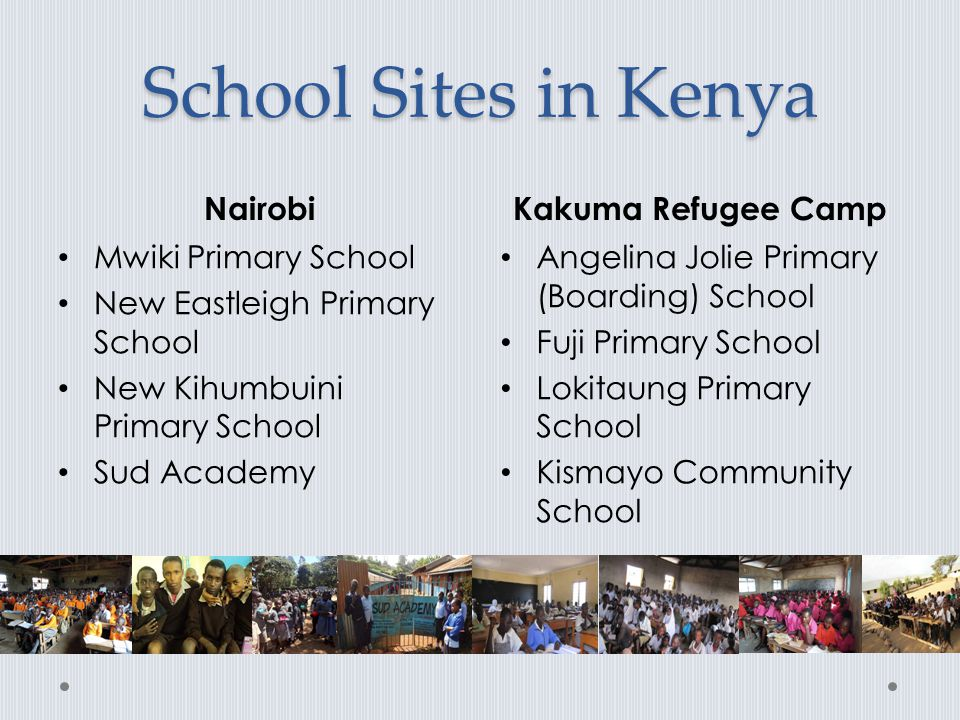 School Sites in Kenya Nairobi Kakuma Refugee Camp Mwiki Primary School