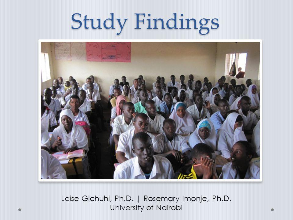 Loise Gichuhi, Ph.D. | Rosemary Imonje, Ph.D.
