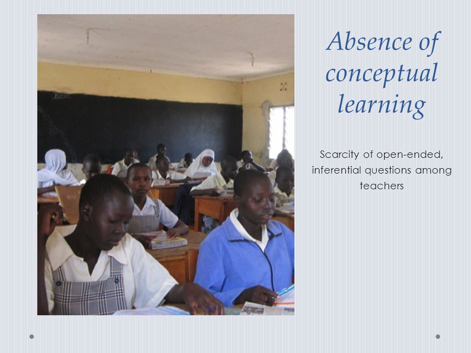 Absence of conceptual learning