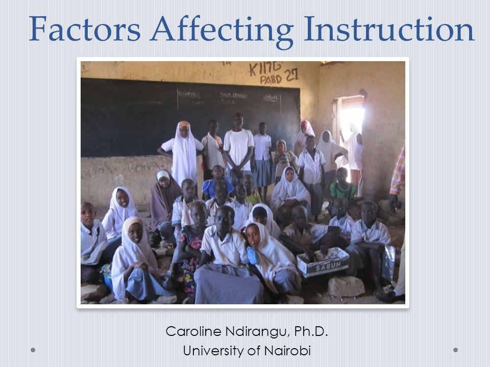 Factors Affecting Instruction