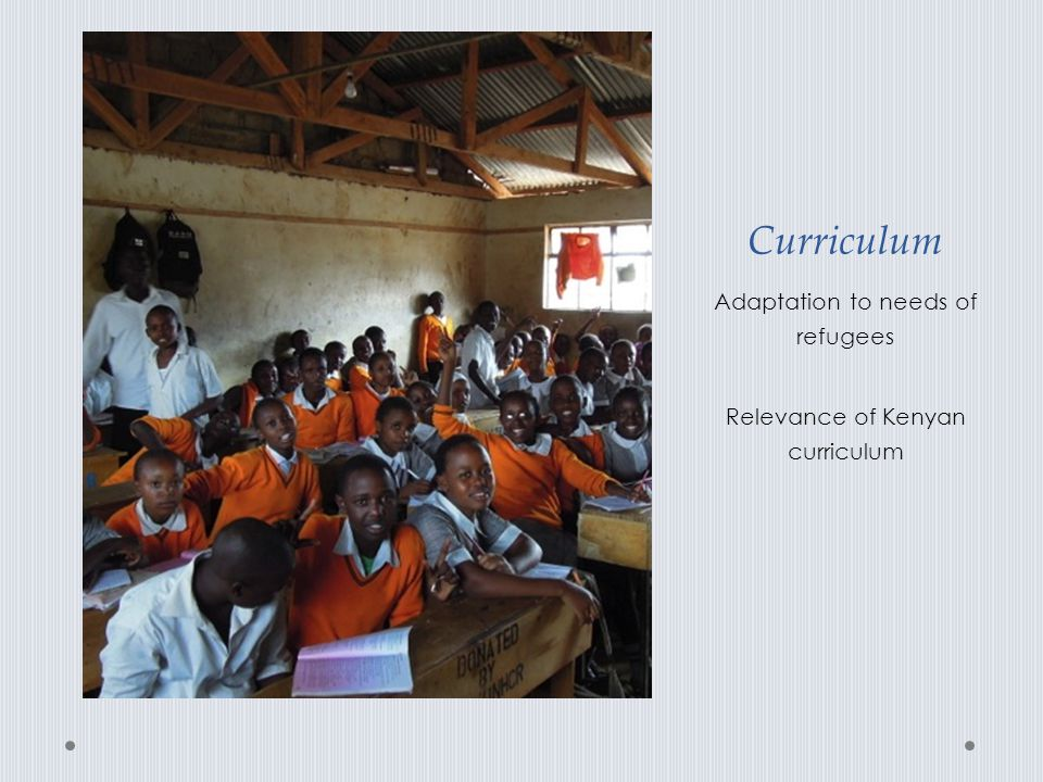 Curriculum Adaptation to needs of refugees