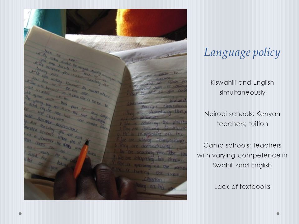 Language policy Kiswahili and English simultaneously