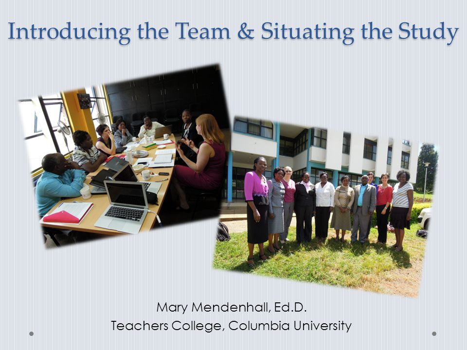 Introducing the Team & Situating the Study