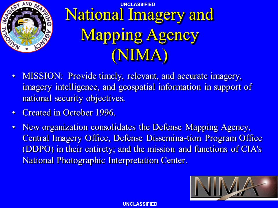 National Imagery and Mapping Agency (NIMA)