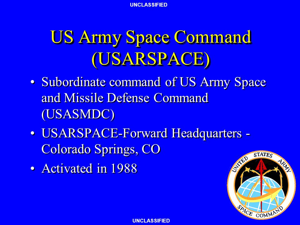 US Army Space Command (USARSPACE)