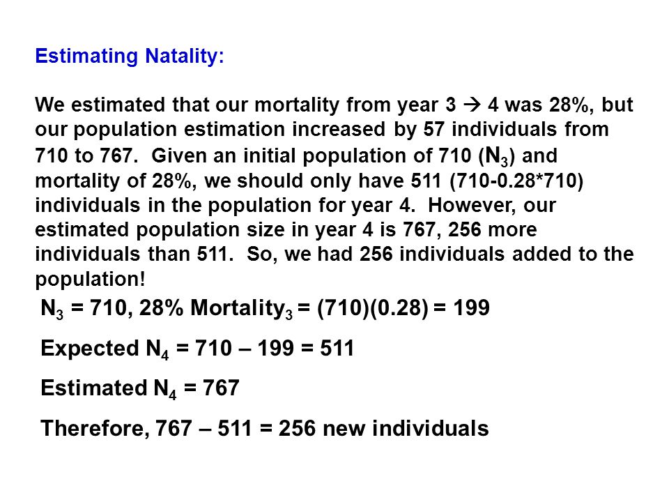 Therefore, 767 – 511 = 256 new individuals