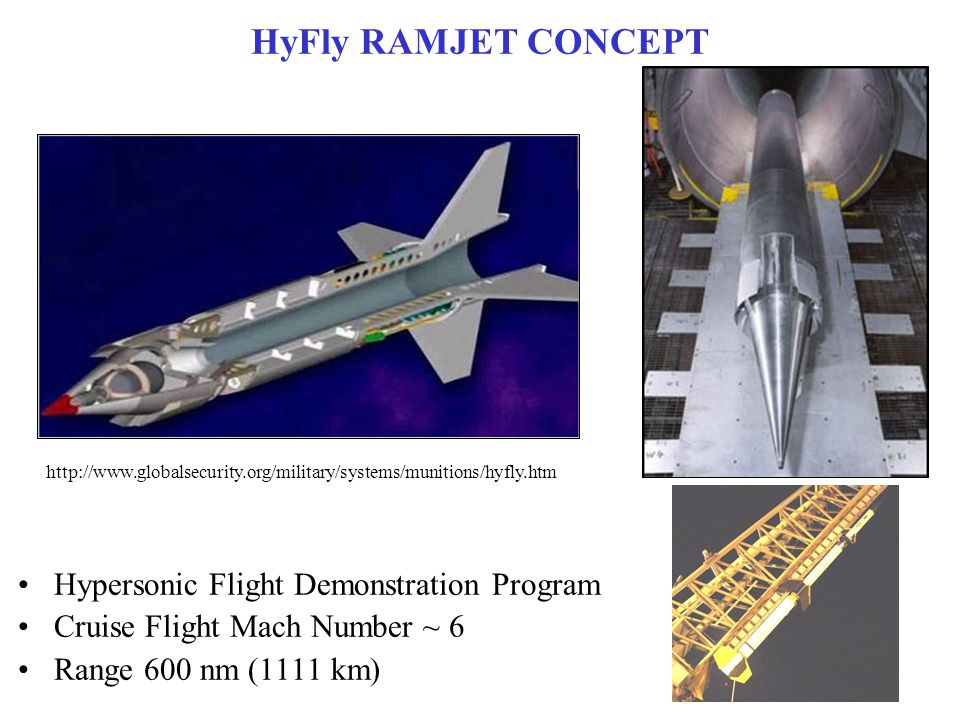 HyFly RAMJET CONCEPT Hypersonic Flight Demonstration Program