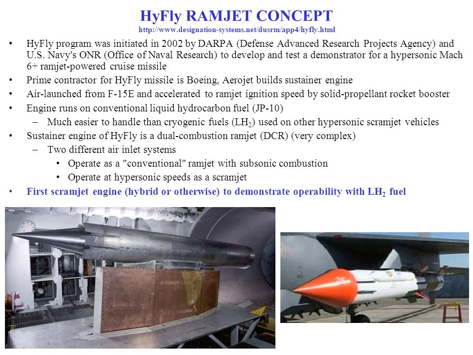 HyFly RAMJET CONCEPT http://www. designation-systems
