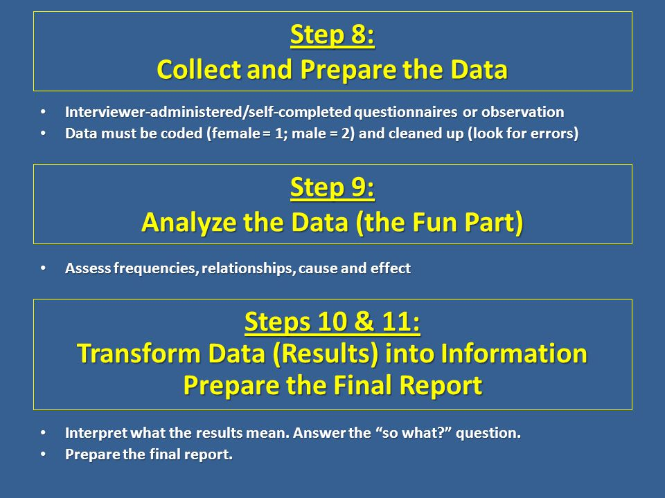 Step 8: Collect and Prepare the Data